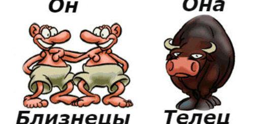 совместимость мужчина-близнецы женщина-телец
