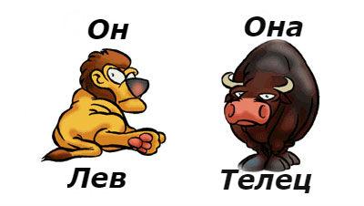 гороскоп совместимости женщина-телец и мужчина-лев