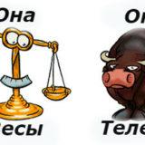 гороскоп совместимости женщина-Весы и мужчина-Телец