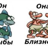 гороскоп совместимости женщина-близнецы и мужчина-рыбы