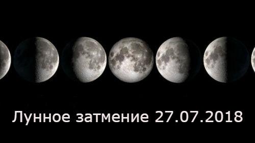 лунное затмение в июле 2018
