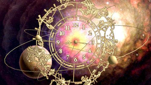 зодиакальный круг в солнечном затмении