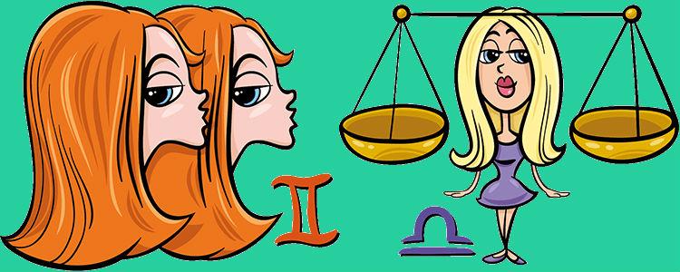 отношения между близнецом и весами