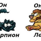 совместимость мужчина-скорпион женщина-лев