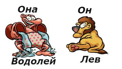 совместимость мужчина-лев женщина-водолейлев