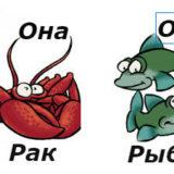 совместимость мужчина-рыбы женщина-рак