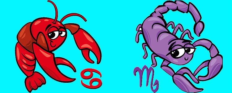У мужчины-скорпиона и женщины-рак отличная сексуальная совместимость.
