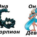 совместимость мужчина-дева женщина-скорпион