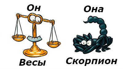 совместимость мужчина-весы женщина-скорпион