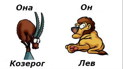 совместимость мужчина-Лев и женщина-Козерог