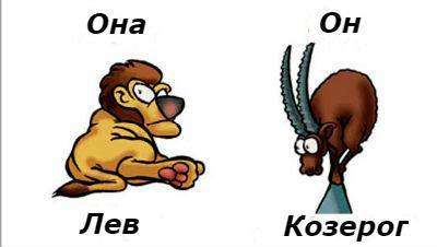совместимость женщина-Лев и мужчина-Козерог
