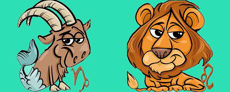 отношения между львом и козерогом