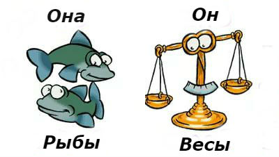 совместимость мужчина-Весыи женщина-Рыбы