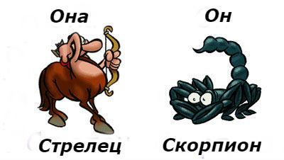 совместимость мужчина-Скорпион и женщина-Стрелец