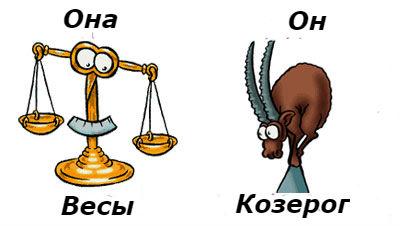 совместимость женщина-Весыимужчина-Козерог