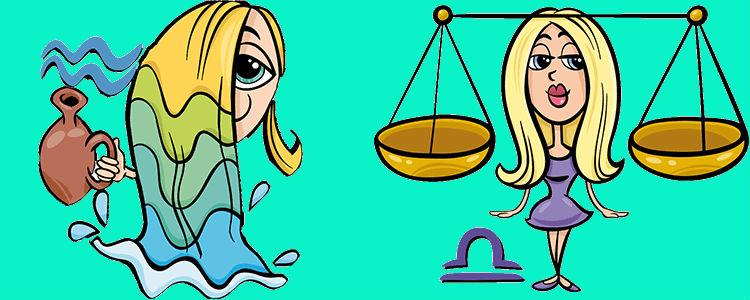 отношения между водолеем и весами