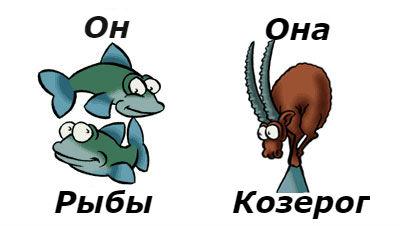 совместимость мужчина-рыбы и женщина-козерог