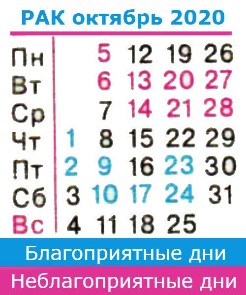 рак гороскоп на октябрь 2020 года