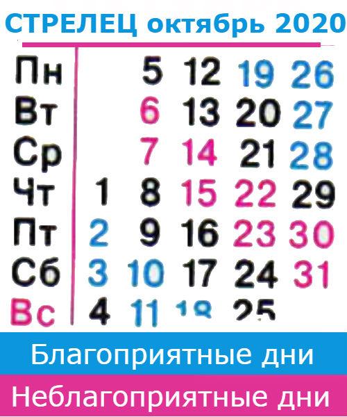 стрелец гороскоп на октябрь 2020 года