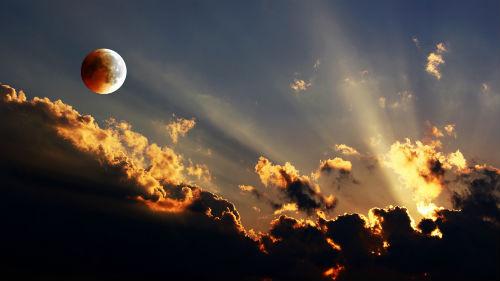 не полное лунное затмение