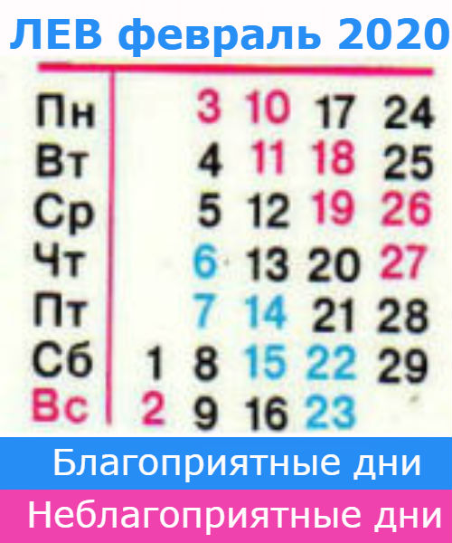 гороскоп для льва на февраль 2020 года