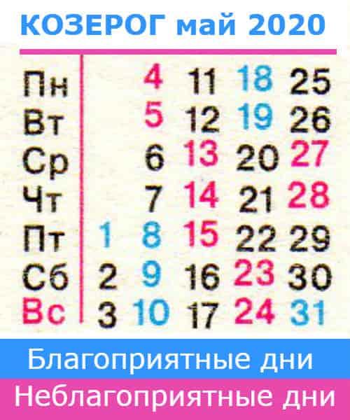 гороскоп на май 2020 года для знака козерог