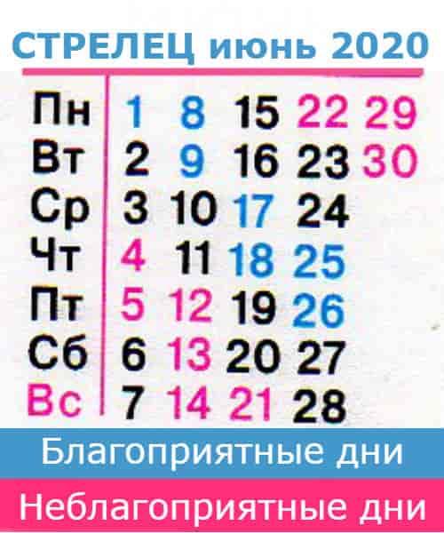 стрелец гороскоп на июнь 2020 года