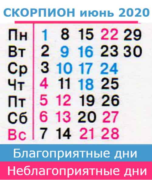скорпион гороскоп на июнь 2020 года